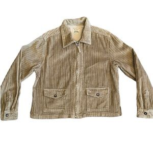 At Last & Co Corduroy Tan Zip Up Jacket